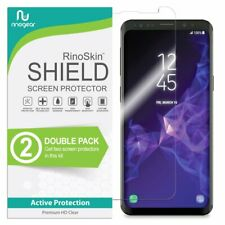 2-Pack rinogear Samsung Galaxy S9+ Protector de Pantalla Estuche amigable cobertura completa