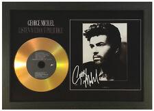 GEORGE MICHAEL 'LISTEN WITHOUT PREJUDICE' SIGNED PHOTO GOLD CD DISC MEMORABILIA