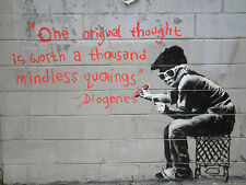 Australian banksy graffiti street quote A1 SIZE PRINTcanvas