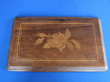 19th C. Rosewood Inlaid Marquetry Music Box Lid Only