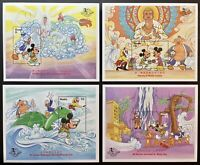 GAMBIA MICKEY'S JOURNEY TO THE WEST DISNEY o/p STAMPS 4 SS 1997 MNH MONKEY KING