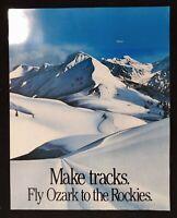 "Ozark Airlines Poster ""Make Tracks Fly Ozark To The Rockies"" Vintage Air Lines"