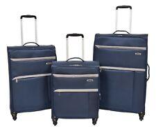 Super Lightweight Luggage 4 Wheel Suitcase NAVY Expandable Soft Case Travel Bag