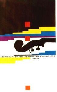 Original vintage poster INT.MUSIC FESTIVAL LUCERNE 1994