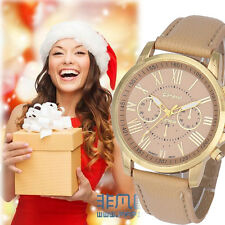 Women's Fashion Roman Numerals Watch Faux Leather Analog Quartz Wrist Watches