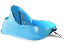 Ondis24 Schlitten Bob für Kleinkinder blau Rodel mit Lehne und Sicherheitsgurt