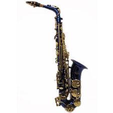 """SKY"" Beautiful Blue Alto Saxophone w Gold Keys *Great Gift*"