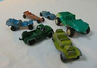 Tootsie Toys And Other Metal Die Cast Vintage Toys Cars Trucks Dragster Lot Of 6