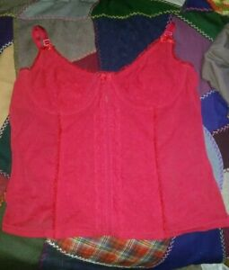 Red Hearts Bustier Camisole 36C