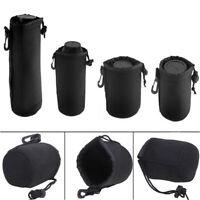 Neoprene DSLR Lens Soft Pouch Case Bag Size:S/M/L/XL for Canon Nikon Camera Lens