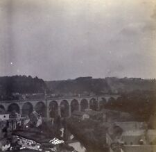 Grand Duchy of Luxembourg the Grund Old Stereo Stereoview Photo 1900