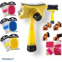 Pet Dog Cat Brush Grooming Slicker Self Cleaning Massage Long Short Hair Remover