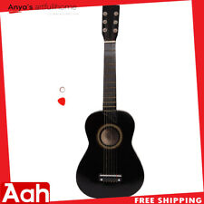 "25"" Beginners Kids Acoustic Guitar 6 String w/ Pick Children Kids Gift Black USA"