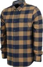 Brand New Mens Vans Aliso LS Flannel Shirt Dress Blues Dirt Medium