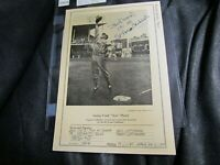 "1946-1949 W603 Sports Exchange Stan Musial Signed 7"" x 10"" Very Rare Rookie Card"