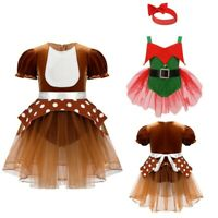Baby Girls Romper Christmas Elk Costume Fancy Dress Newborn Outfits Xmas Party