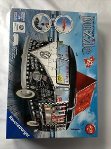 Ravensburger 3D Puzzle # 12 525 8 Volkswagen T1 Bus 162 Pieces New Sealed VW