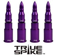 4 TRUE SPIKE PURPLE BULLET WHEEL RIM TIRE AIR VALVE STEM CAP SET FOR SUBARU