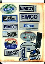 LOT OF 14 DIFFERENT EIMCO COAL MINING STICKERS # 1062