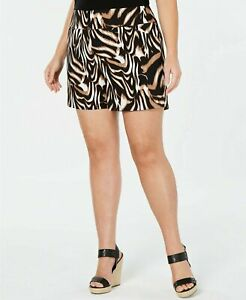 NEW INC International Concepts Women's Plus Size Animal-Print Shorts Size 28W