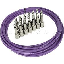 George L's Mega Pedalboard Cable Kit 20' .155 Purple 20ft & 20 Nickel Plugs