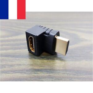 Adaptateur coudé raccord 90 degrés HDMI mâle – femelle - Coude Idéal écran