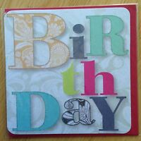 Birthday Blank Greeting Note Card *NEW* Letters Text (555)
