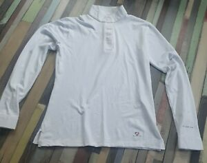 Aubrion Long Sleeve stock Show Shirt UK 10 small S white