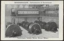 cartolina BARDONECCHIA sottostazione di convers.-tecnomasio ital. brown boveri