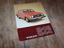 Prospectus / Sales Single Brochure VOLVO 242 & 244 1977 //