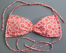 VICTORIAS SECRET Bandeau Pink & White Circle Print Bikini Top Swimwear Womens M