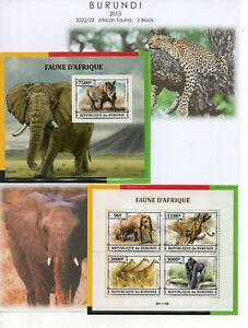 BURUNDI - 2012/13  Lot  3 Seiten.