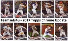 Carte collezionabili baseball Topps Chrome stagione 2017
