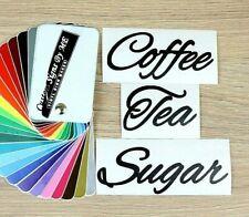 Coffee Tea Sugar Kitchen Jar Labels Personalised Stickers Vinyl Decals Adhesive