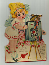 "Vntg. Valentine - Mechanical - Betty Boop -"" A Movie Of A Valentine "" - Large"