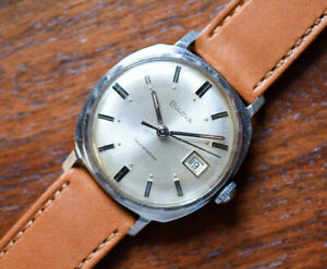 Vintage BULOVA Automatic Stainless Steel Men's Watch 1967 Luminous Dial Hands