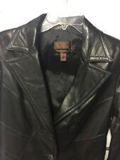 Danier Woman's Black Leather Jacket Size Small