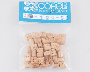 Corel B128 Crochet-Moufle 3 Yeux 5 MM (50 Pièces) Modélisme