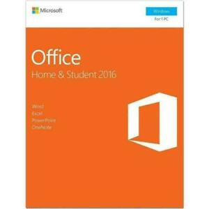 Microsoft Office Home and Student 2016 Software New in Retail Sealed Package