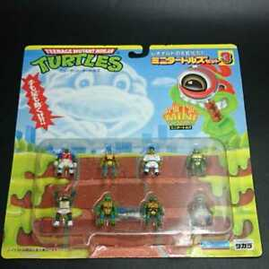 Takara TMNT Teenage Mutant Ninja Turtles mini Turtles set 3 vintage rare