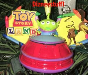 Disney Parks Exclusive Toy Story Land Slinky Dog & Alien Ear Hat Ornament NEW