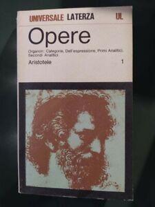 Aristotele, Opere 11 voll. Laterza, Bari 1973