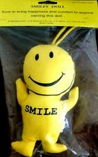 NOSTALGIC SMILEY FACE DOLL Stuffed Toy By Maxine Eliot MINT/Sealed SHACKMAN