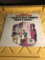 National Lampoon: That's Not Funny, That's Sick! (Vinyl LP, 1977)