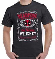 Deadpool Inspired Ass Kicking Whiskey T Shirt Unisex Top Tee