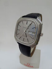 Genuine Leather Strap OMEGA Wristwatches with 12-Hour Dial