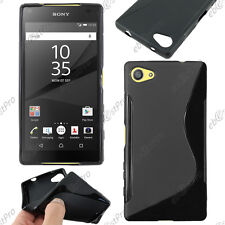 Housse Etui Coque Silicone S-line Noir Sony Xperia Z5 Compact