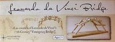 LEONARDO DA VINCI BRIDGE PATHFINDERS WOODEN  MODEL KIT EASY TO ASSEMBLE .