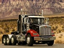 "1/64 DCP BLACK/RED KENWORTH T800 TRI AXLE W/ 38"" SLEEPER"
