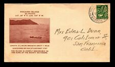 Pitcairn Island 1936 Cover / Cacheted / NZ Postage - L11137